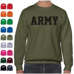 Bulk Wholesale Clothing US Army Pullover Crewneck Sweatshirts - Military Green - Military Suppliers - MSC Distributors