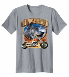 Wholesale T Shirts Biker Apparel Suppliers - 287-17166D2-2-call-of-the-wild-gray