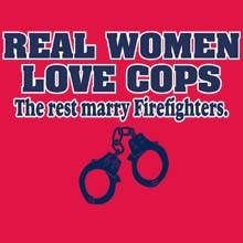 Bulk Firefighter Women Cops Funny Supplier Wholesale T Shirts - 22327