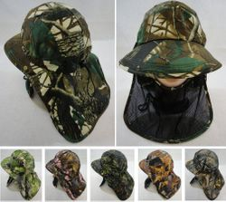 Party Toys Wholesale Headwear Merchandise Hat and Cap Suppliers - HT1578. Legionnaires Hat-Hardwood Camo with Front Mesh Face Cover