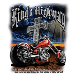 Christian T-Shirts Wholesale Christian Biker King's Highway T Shirts - MSC Distributors
