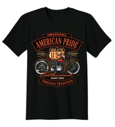 Plus Size Clothing, T Shirts Gildan Biker Bulk Wholesale Clothing Suppliers In USA - BIKER T-SHIRT CUSTOM DESIGN ORIGINAL AMERICAN PRIDE TIMELESS TRADITION