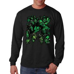 Plus Size Clothing, Long Sleeve Zombie T Shirts - MSC Distributors