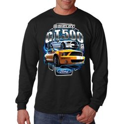 Plus Size Clothing, Long Sleeve Shelby Mustang Car T Shirts - MSC Distributors