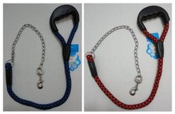 Pet Products Wholesale Suppliers - PS88. 40 Pet Leash with Gripper Handle [Rope & Chain]