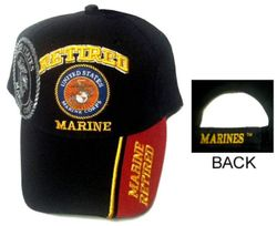 Marine Corps Hats Cheap Wholesale Online Drop Shipping - ECAP407Black - B. Military Embroidered Cap