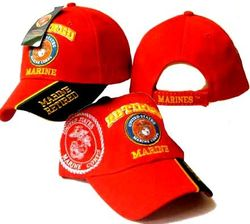 Military Caps And Hats Cheap Wholesale Online Drop Shipping - Marine Corps USMC - ECAP407Red - B. Military Embroidered Cap