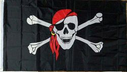 Wholesale Buy Best Unique Flags in the World Supplier Bulk For Sale - FLG006B Pirate Jolly Roger Flag II 3x5'