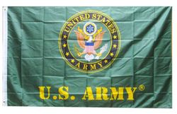 Wholesale Buy Best Unique Flags in the World Supplier Bulk For Sale - FLG601C Army Emblem US Army Flag 3x5'