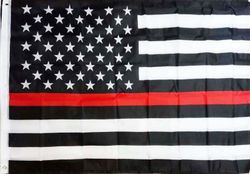 Wholesale Buy Best Unique Flags in the World Supplier Bulk For Sale - FLG650 Thin Red Line US Flag 3x5'