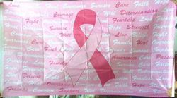 Wholesale Buy Best Unique Flags in the World Supplier Bulk For Sale - FLG971B Pink Ribbon Words