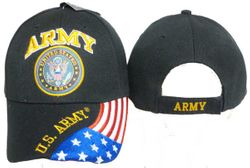 Wholesale Military Embroidered US Army American Flag Caps Suppliers - MSC Distributors