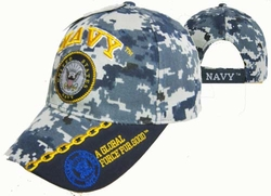 Military Hats Caps Wholesale Licensed Supplier Bulk Massachusetts - CAP602MC NAVY & Navy Emblem Cap Camo
