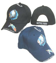 Wholesale Native HatPride Hats and Native American s Caps Wholesalers Buy Suppliers - CAP643 Native Pride Indian Chief 2C