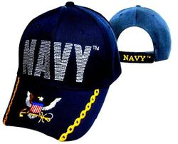 Navy Wholesale Bulk Suppliers - ECAP494b. Military Embroidered Acrylic Caps