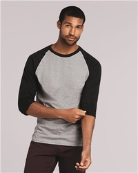 Wholesale Men's Blank Clothing Supplier T Shirts Hoodies Hats Bulk - Gildan - Heavy Cotton Three-Quarter Raglan Sleeve Baseball T-Shirt - 5