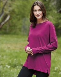 T Shirts Wholesale Distributor - Comfort Colors - Women's Ringspun Cotton Drop Shoulder Long Sleeve Tee - 6054