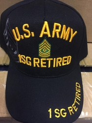 Clothing Military Hats Caps Wholesale Bulk Suppliers Massachusetts - Army 1SG Ret SKU 090