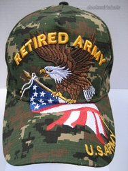 Clothing Military Hats Caps Wholesale Bulk Suppliers Massachusetts - Army Ret SKU 075