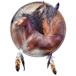 Wholesale Native American Horse Dreamcatcher Apparel Online Store Hats and T Shirts Suppliers - MSC Distributors - 22030HD2