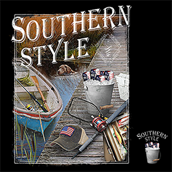 Patriotic Fishing Country Southern Style T Shirts Wholesale Bulk Supplier - 21970D2-250x250