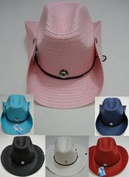 Wholesale T Shirts Hats Products for Resale Online - HT303. Straw Cowboy Hat with Jewel