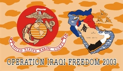 Wholesale Military Flag Bulk Supplier - F282. Military Iraqi Freedom