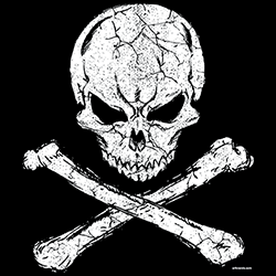 Skull T-Shirts Wholesale Skull Crossbones T Shirts - 22950EL2