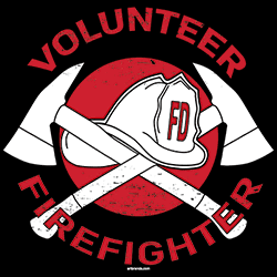 Firefighter T Shirts Wholesale Volunteer Firefighter T Shirts - 22997EL2