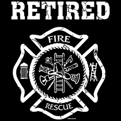 Firefighter T Shirts Wholesale Retired Fire Rescue T Shirts - 23000EL2