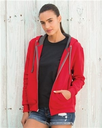 T Shirts Wholesale Distributor - Fruit of the Loom - Women's Sofspun� Full-Zip Hooded Sweatshirt - LSF7