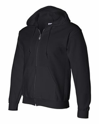 T Shirts Wholesale Distributor - Gildan Hoodies Clothing - DryBlend Hooded Full-Zip Sweatshirt - 12600 black