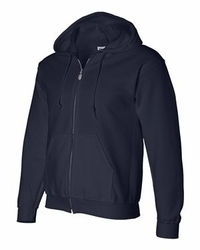 T Shirts Wholesale Distributor - Gildan Hoodies Clothing - DryBlend Hooded Full-Zip Sweatshirt - 12600 navy