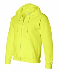 T Shirts Wholesale Distributor - Gildan - DryBlend Hooded Full-Zip Sweatshirt - 12600 safety green