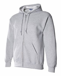 T Shirts Wholesale Distributor - Gildan Hoodies Clothing - DryBlend Hooded Full-Zip Sweatshirt - 12600 sport grey