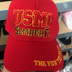 Hats Caps Wholesale Bulk Supplier - RED USMC SEMPER FI Military Veterran -MSC Distributors Massachusetts