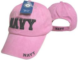 Wholesale Military Hats For Men - Navy Ball Caps Embroidered Women's Pink - MSC Distributors