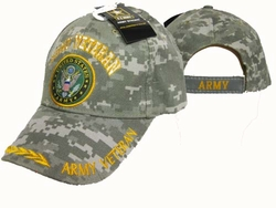 Military Hats Caps Wholesale Licensed Supplier Bulk Massachusetts - CAP591AC Army Vet Embelm Cap Camo