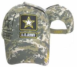 Military Hats Caps Wholesale Licensed Supplier Bulk Massachusetts - CAP601SC Army Gold Star Shadow Cap camo