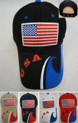 USA Suppliers Wholesale Patriotic American Flag Bald Eagle Baseball Hats - HT561. ...USA Flag Hat