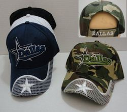 Wholesale Baseball Caps Hats Cheap in Bulk Supplier USA - HT629. DALLAS with Star Hat [Waved Bill]