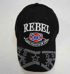 Custom T-Shirts Buy Design Best Store Online Shop Apparel Merchandise - Confederate Flag Hats Embroidered Wholesale Bulk Suppliers - MSC Distributors - HT574. Rebel...And Proud of It Hat