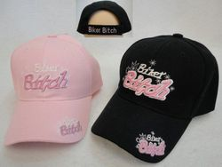 Wholesale Motorcycle Clothing Apparel - HT787. BIKER BITCH Hat