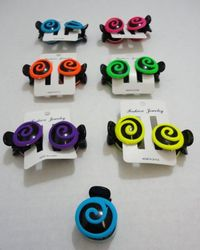 Party Toys Wholesale 2pk Neon Swirl Claw Clip - HP97