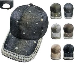 Women's Hats Wholesale Suppliers - HT1107. Ladies Sparkle Hat Assortment [Bling Pearls]