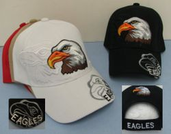 USA Suppliers Wholesale Patriotic American Flag Bald Eagle Baseball Hats - HT120. Eagle Head with Shadow Hat-Eagle Shadow on Bill