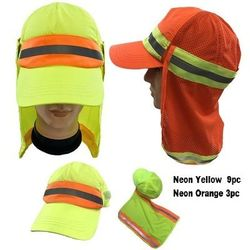 Blank Wholesale Hats Merchandise - HT1584. High Visibility Ball Cap with Removable Mesh Flap