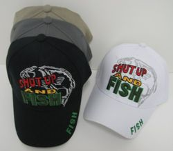 MSC Distributors : Funny Fishing Men's Hats Wholesale Bulk Supplier - HT242. Shut Up and Fish Hat