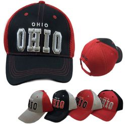 Party Toys Wholesale Hats Merchandise Flea Market Products For Resale -HT4100. Air Mesh Back Solid Front Ball Cap [OHIO]