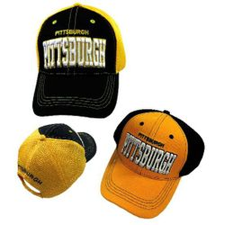 Party Toys Wholesale Hats Merchandise Flea Market Products For Resale -HT4101. Air Mesh Back Solid Front Ball Cap [PITTSBURGH]